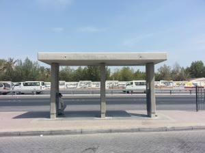 One of the derilict bus stops