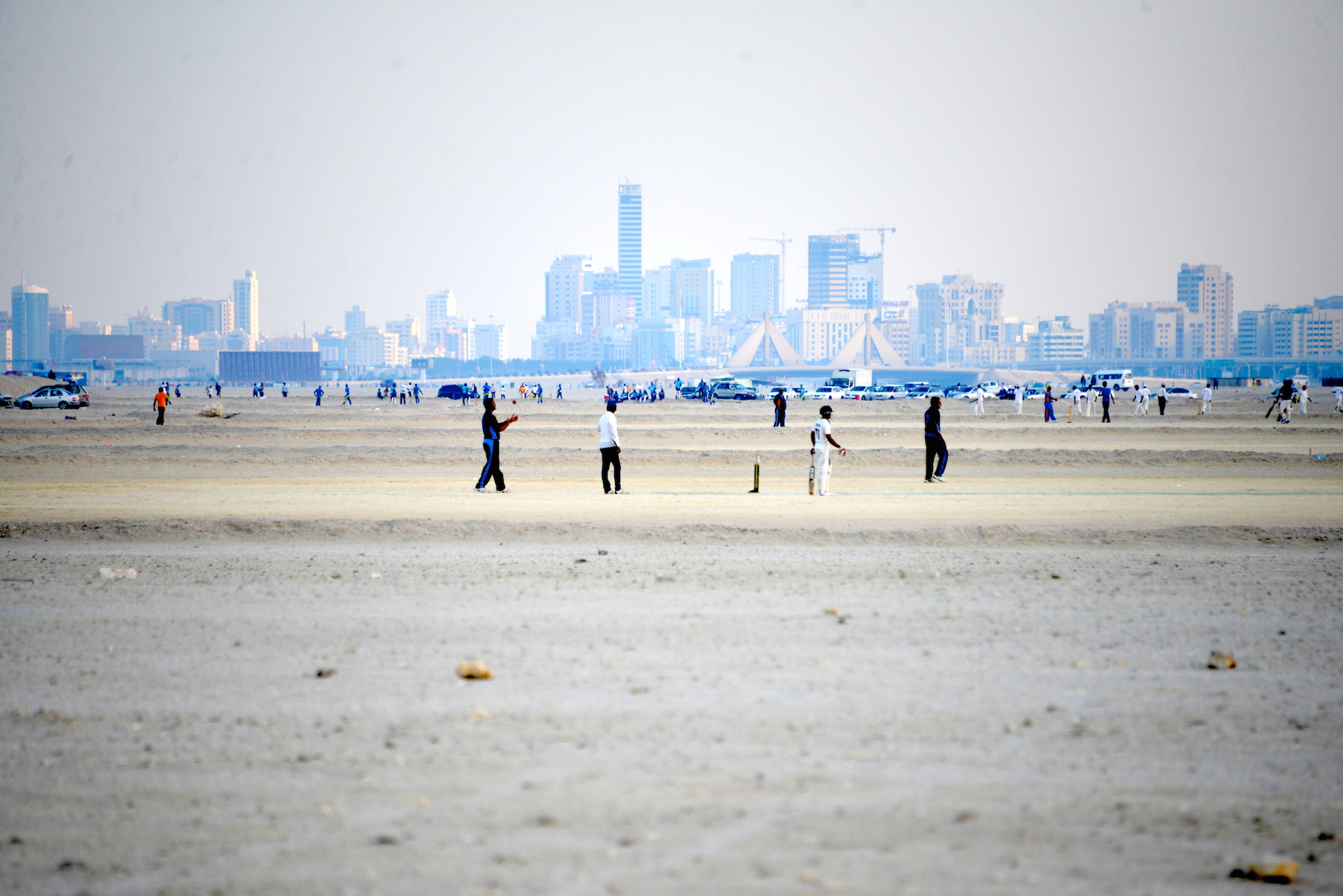 'Beach' cricket in Bahrain
