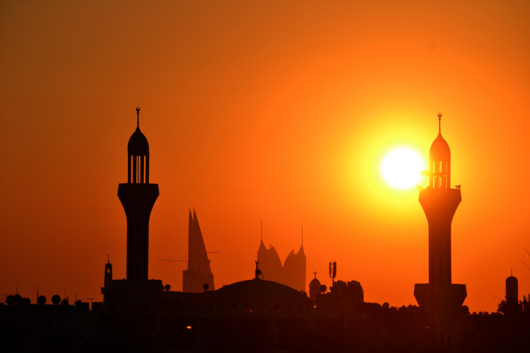 Mosque Building Coast Sunset