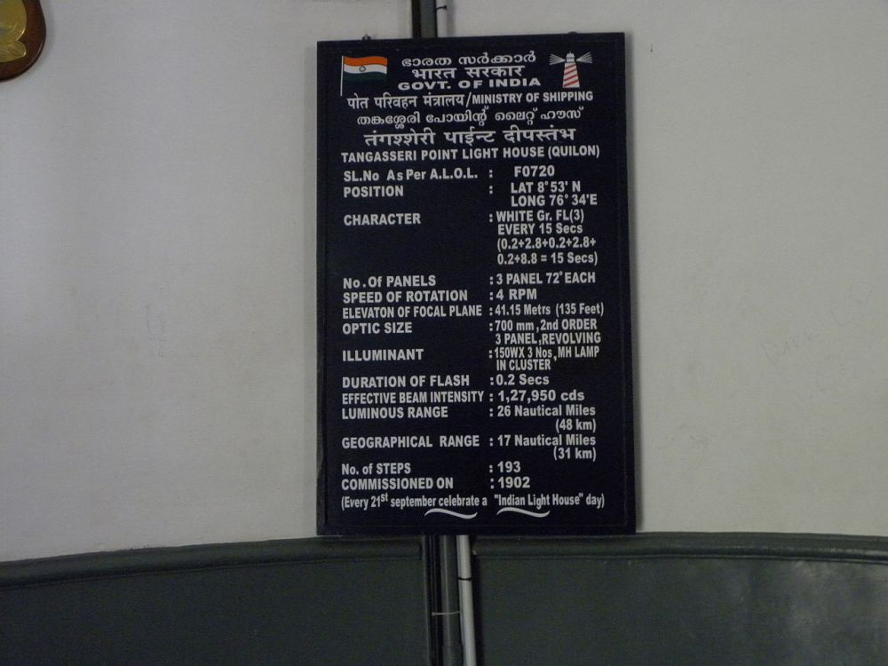 information_board_in_thangassery_lighthouse